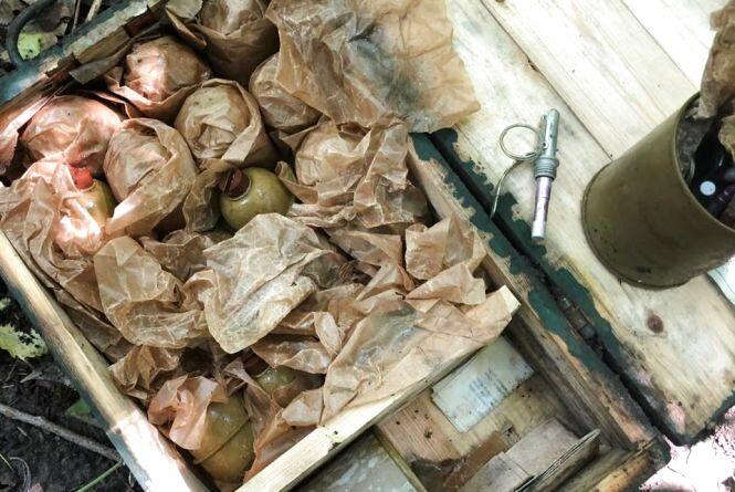 У лісосмузі під Бердичевом виявили схрон з боєприпасами