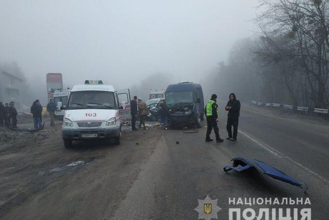 Четверо постраждалих госпіталізовані після масштабної ДТП у Коростишівському районі