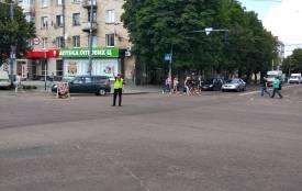Фотофакт: на розі Київської - Театральної не працює світлофор