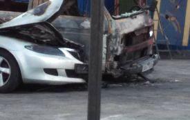 У Житомирі вночі невідомі підпалили чотири автівки