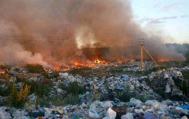 Внаслідок пожежі на бердичівському сміттєзвалищі у с. Скраглівка фахівці зафіксували забруднення повітря